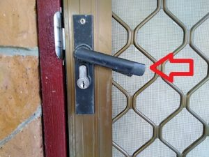 Broken security door locksmith