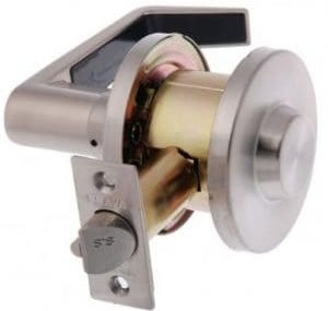 Single sided commercial grade handle lock Fire escape